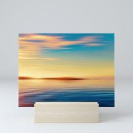 Sunset Seascape Island Mini Art Print