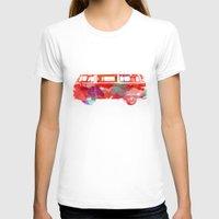 van T-shirts featuring VW Van  by Stacia Elizabeth