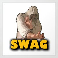 swag Art Prints featuring SWAG  by Robleedesigns