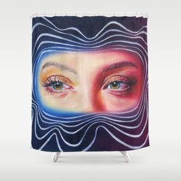 Why won't you look me in my eyes? Shower Curtain