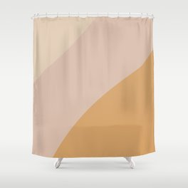 Warm Neutral Color Block Shower Curtain