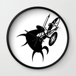African Rider Wall Clock