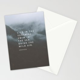 Live in the sunshine. Swim in the sea. Drink the wild air. Stationery Cards
