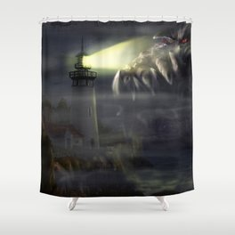 Visit from Leviathan Shower Curtain