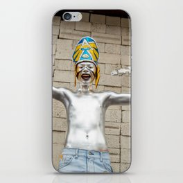 The silver aztec iPhone Skin