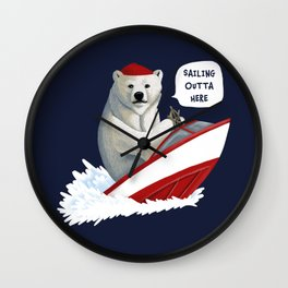 Sailing Outta Here Wall Clock