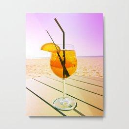 Cocktail At The Beach Metal Print