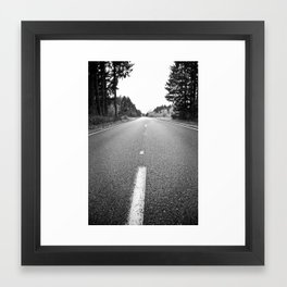 down the road.  Framed Art Print