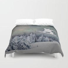 The Snowboarder Duvet Cover