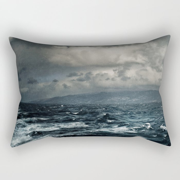 wild ocean Rectangular Pillow