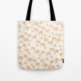 Modern trendy faux gold glitter tropical palm tree Tote Bag