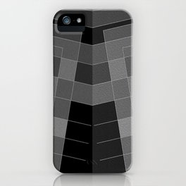 Grey H and double ... iPhone Case