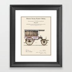 Ambulance Patent 1889 Framed Art Print
