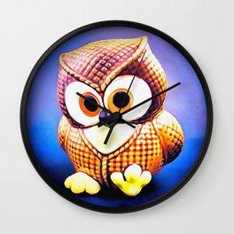 Ceramic Owl Wall Clock