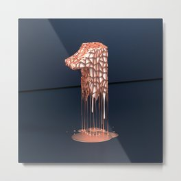 Dripping Number One Metal Print