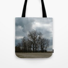 Steam Clouds Treeline Tote Bag