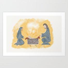 Away in a manger Art Print