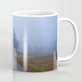 Trees Down a Hazy Road Coffee Mug