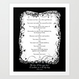 Ten Commandments. Art Print