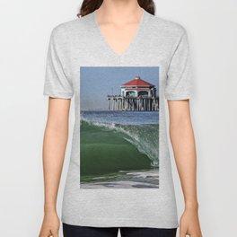 Surf City Shore-break & Ruby's Diner Unisex V-Neck