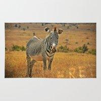 zebra Area & Throw Rugs featuring Zebra by minx267
