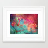 aurora Framed Art Prints featuring AURORA by Adaralbion
