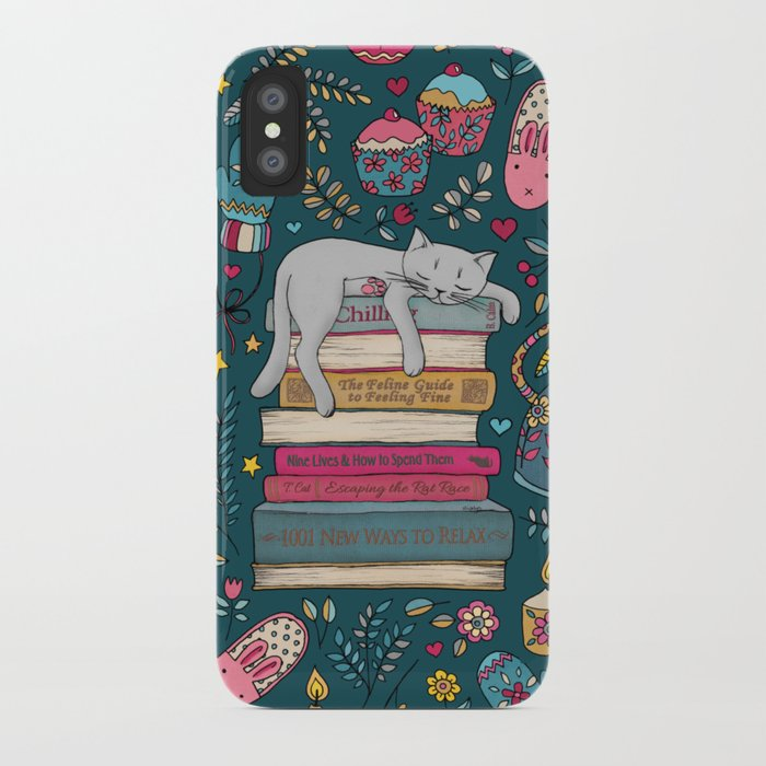 how to hygge like a cat iphone case