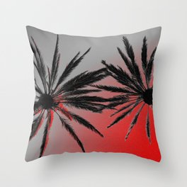 Palm Trees Wicked Throw Pillow