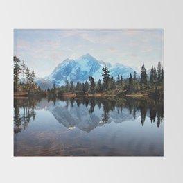 Mt Shuksan Throw Blanket