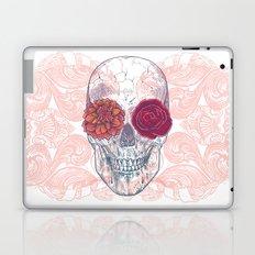 Double Flowers Skull Laptop & iPad Skin