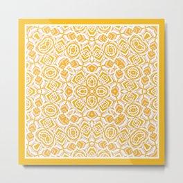 Zebra - Abstract 2 Gold Metal Print