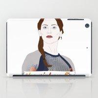 katniss iPad Cases featuring Katniss Everdeen by raeuberstochter
