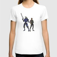 n7 T-shirts featuring Shepard and Garrus by Joe Byrne