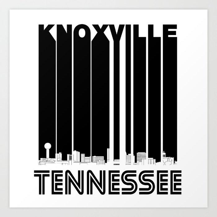 Retro Knoxville Tennessee Skyline Art Print