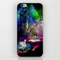 decal iPhone & iPod Skins featuring Fantasy forest by haroulita