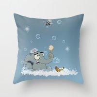 bath Throw Pillows featuring Bath by Glenn Melenhorst