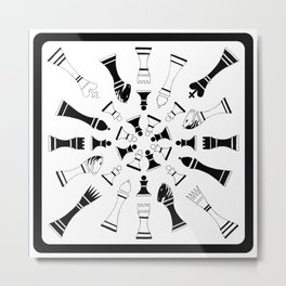 Chessmen Metal Print