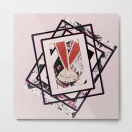 AKIN pink Metal Print