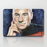 picard iPad Cases featuring Captain Picard by Olechka