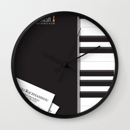 Shine, Geoffrey Rush, David Helfgott, Scott Hicks, alternative movie poster, minimalist film, affich Wall Clock