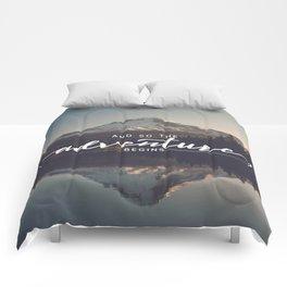 Trillium Adventure Begins - Nature Photography Comforters