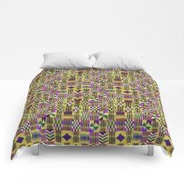 Kente Cloth // Blue-Violet & Goldenrod Comforters
