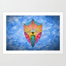 Lotus Shield Art Print