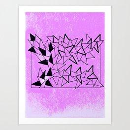 Purple Triangles Art Print