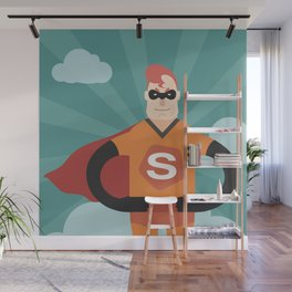 Super hero Wall Mural