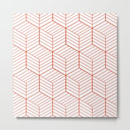 ZADA ((cherry red)) Metal Print
