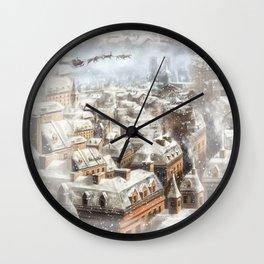 Christmas in Paris Wall Clock