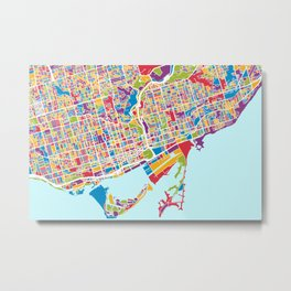 Toronto Street Map Metal Print