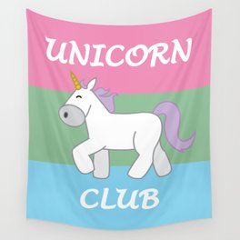 Polysexual Pride Flag Unicorn Wall Tapestry