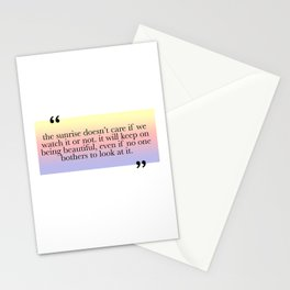 Being Beautiful Stationery Cards